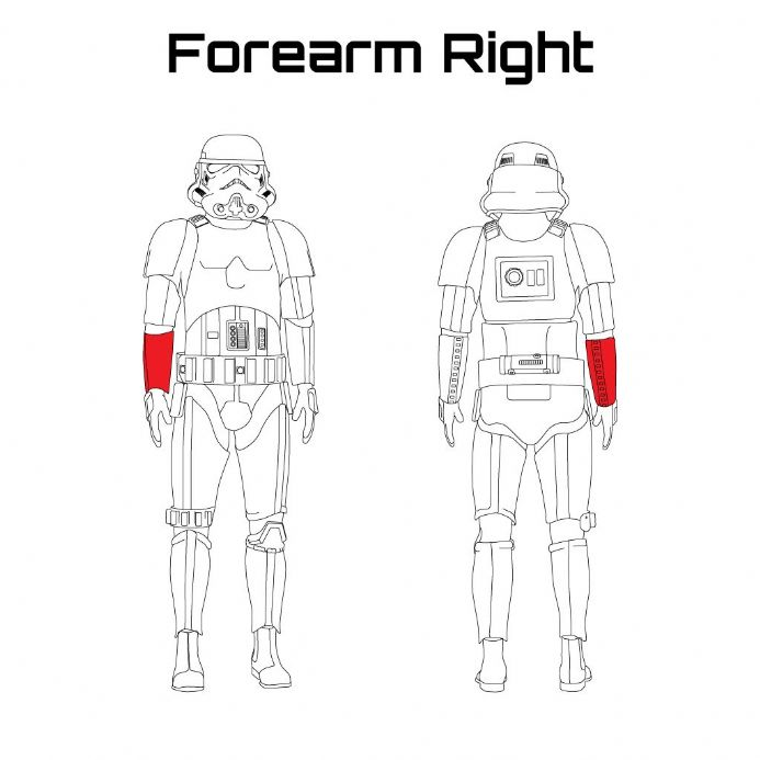ORIGINAL STORMTROOPER ARMOUR PARTS [Forearm Right]